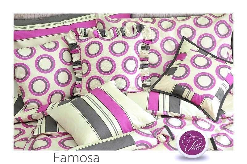 Barevné bavlněné povlečení Famosa Fitex