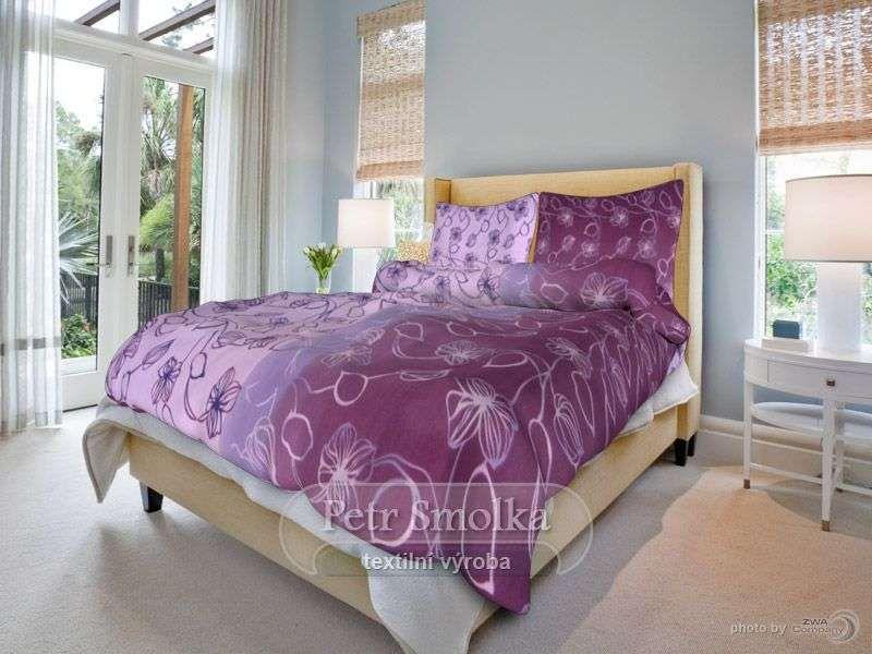 Povlečení (bavlna) Stvoly fialové smolka