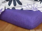 Froté prostěradlo - purpur C