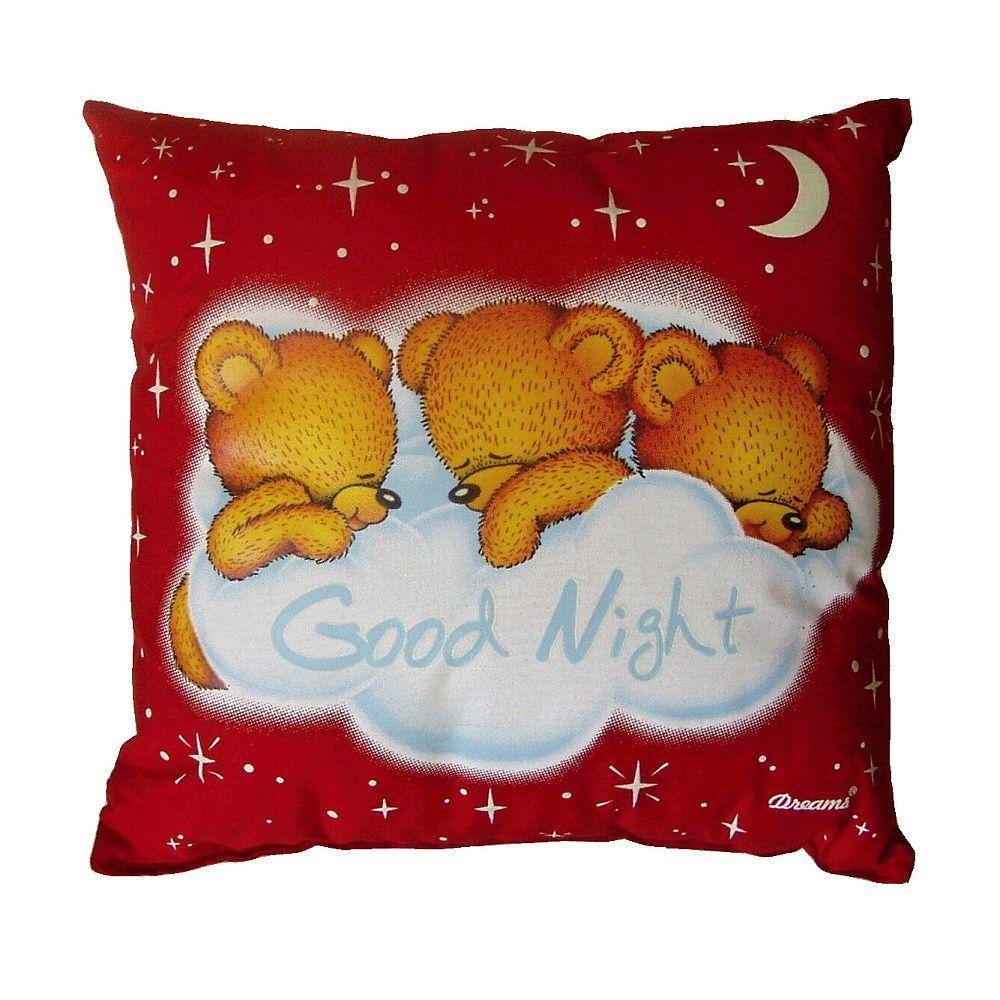 7c8204bf498 Polštářek svítící s dětským motivem spícího medvídka na ...