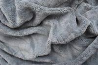 Mikroflanelové prostěradlo šedé