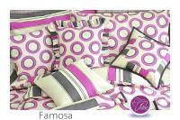 Krepové barevné povlečení Famosa Fitex