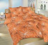 Krepové povlečení oranžové barvy Dadka