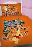 Povlečení oranžové Medvídek Pů a tygr Jerry Fabrics