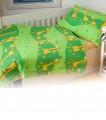 Povlečení krep - Žirafa zelená