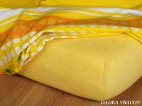 Froté prostěradlo tmavě žluté Dadka