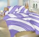 Bavlněné povlečení Globus fialový